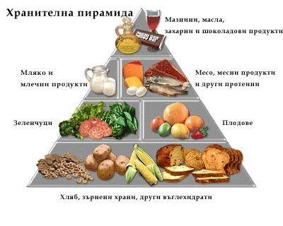 Седмично меню за яслена и градински групи 1